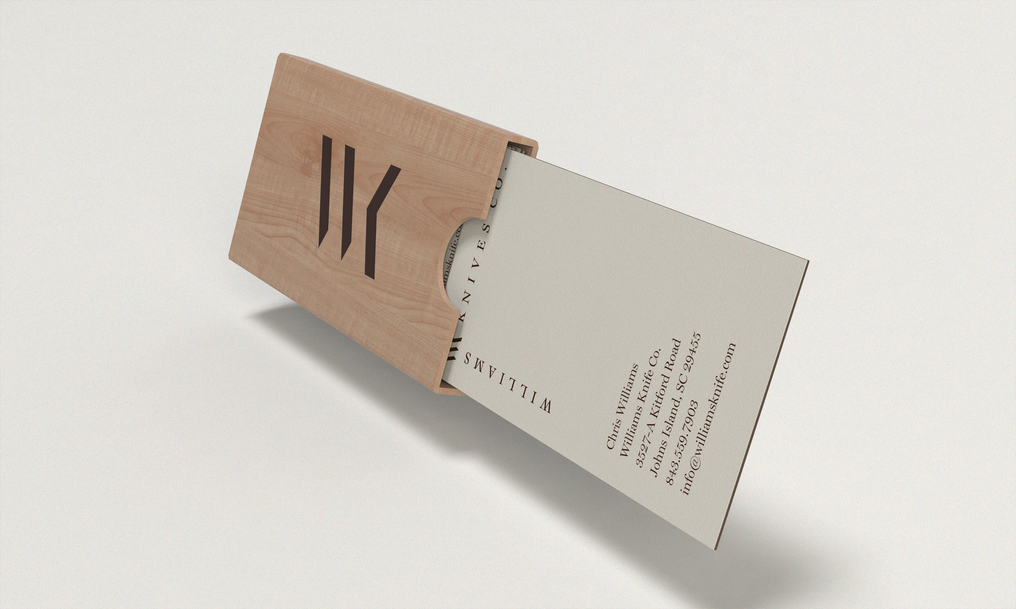 Wood Case Business Card