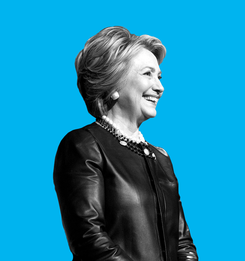 Hillary Clinton blue
